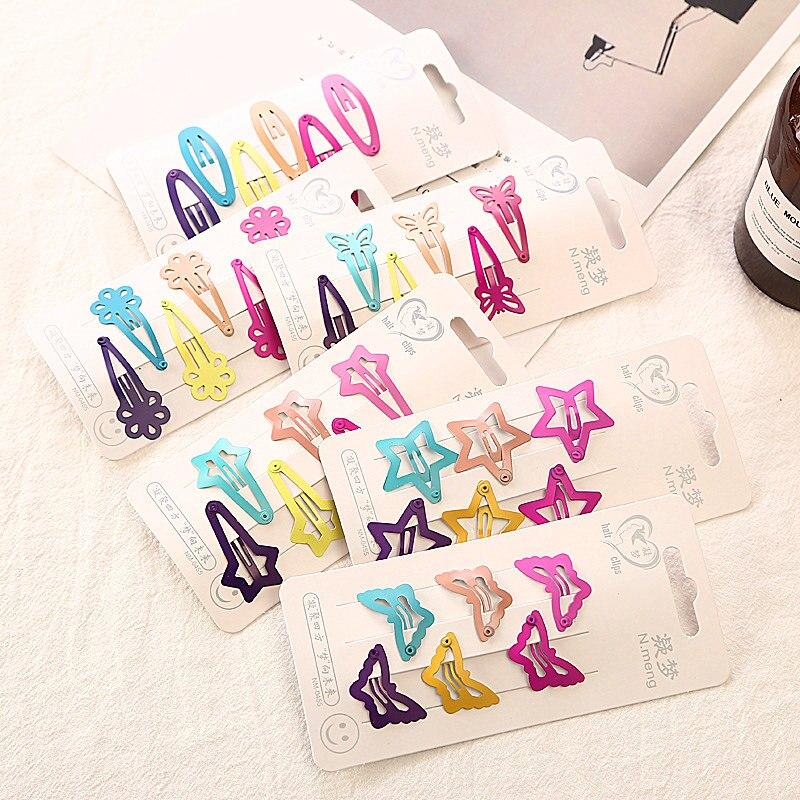 New 6Pcs Baby Girls Scarce hair Lovely BB Clips Bowknot Hairpin Kid Hair Accessories Children mini Hair clip Headwear