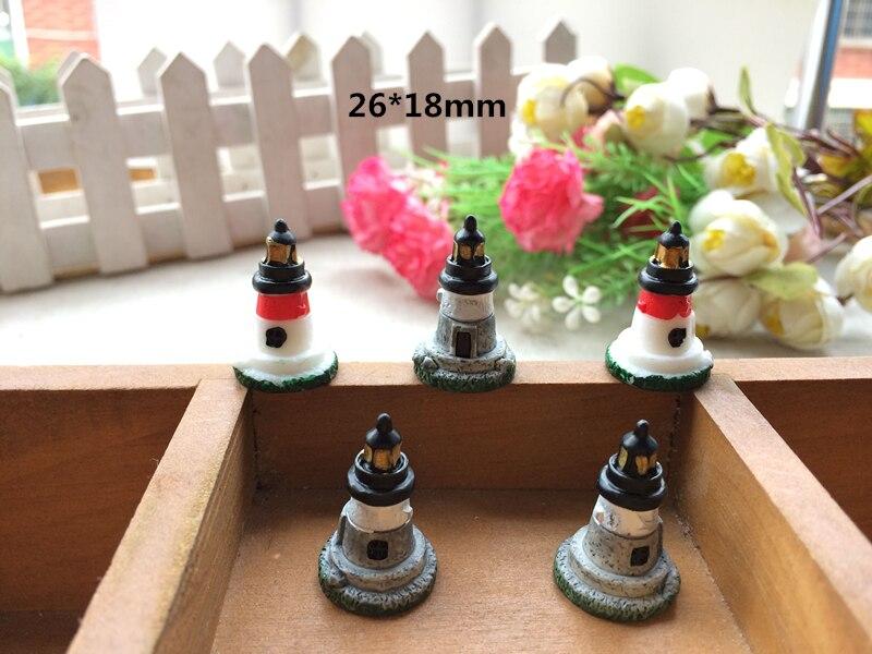 20pcs Mini Resin simulation lighthouse Fairy Garden Terrarium Bonsai  Landscape furniture Decor Crafts DIY(China