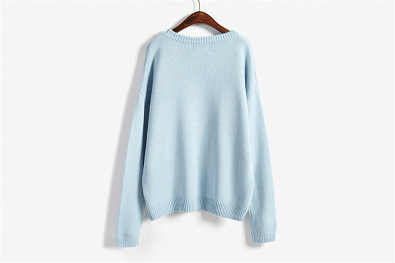 19 Women Sweaters And Pullovers Long sleeve Knitted Women's Sweater Female Winter V Neck Jumper Sueter Mujer Pull Femme 14