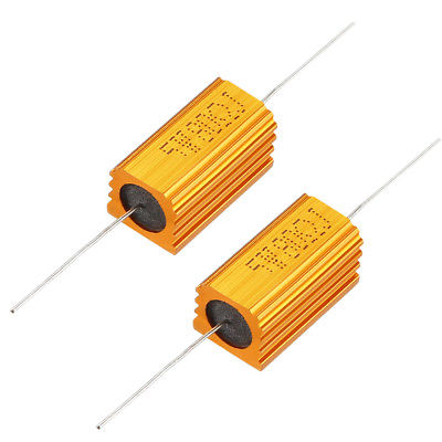 uxcell 25W 2.5k Ohm 5/% Aluminum Housing Resistor Screw Tap Chassis Mounted Aluminum Case Wirewound Resistor Load Resistors Green 1 pcs