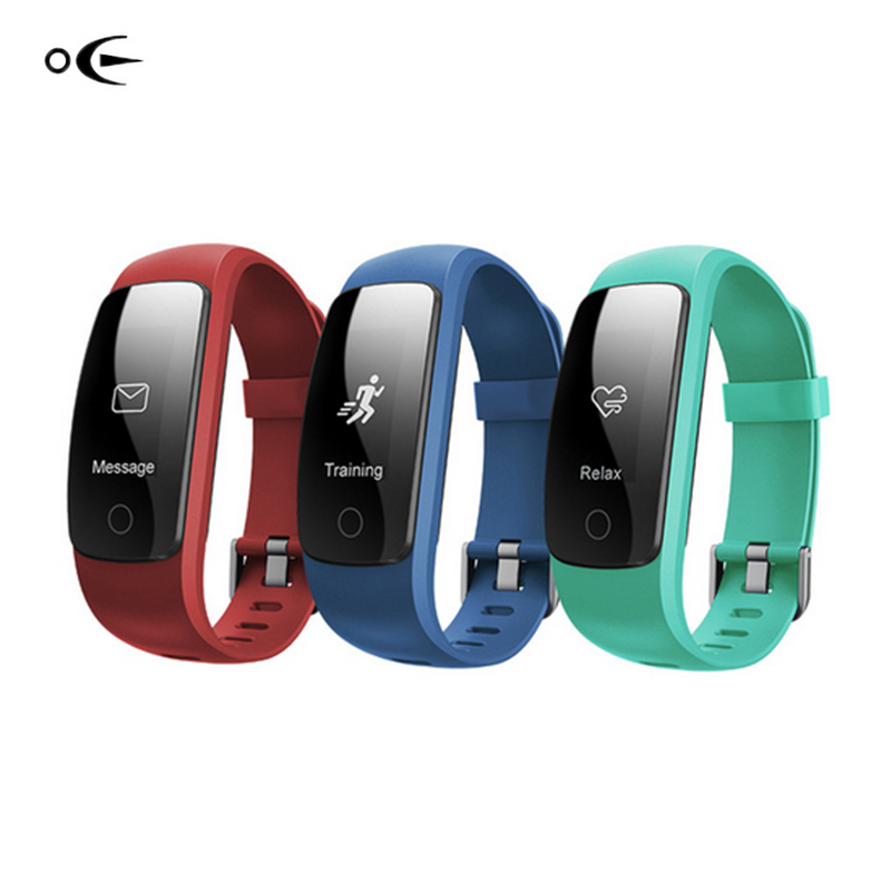 Smart ID107Plus HR Heart Rate Bracelet Monitor ID107 Plus Wristband Health Fitness Tracking For Android iOS Vs MI Band 2