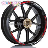 For BMW S1000RR S1000R Motorcycle Wheel Sticker Decal Reflective Rim Bike Suitable Red LGT