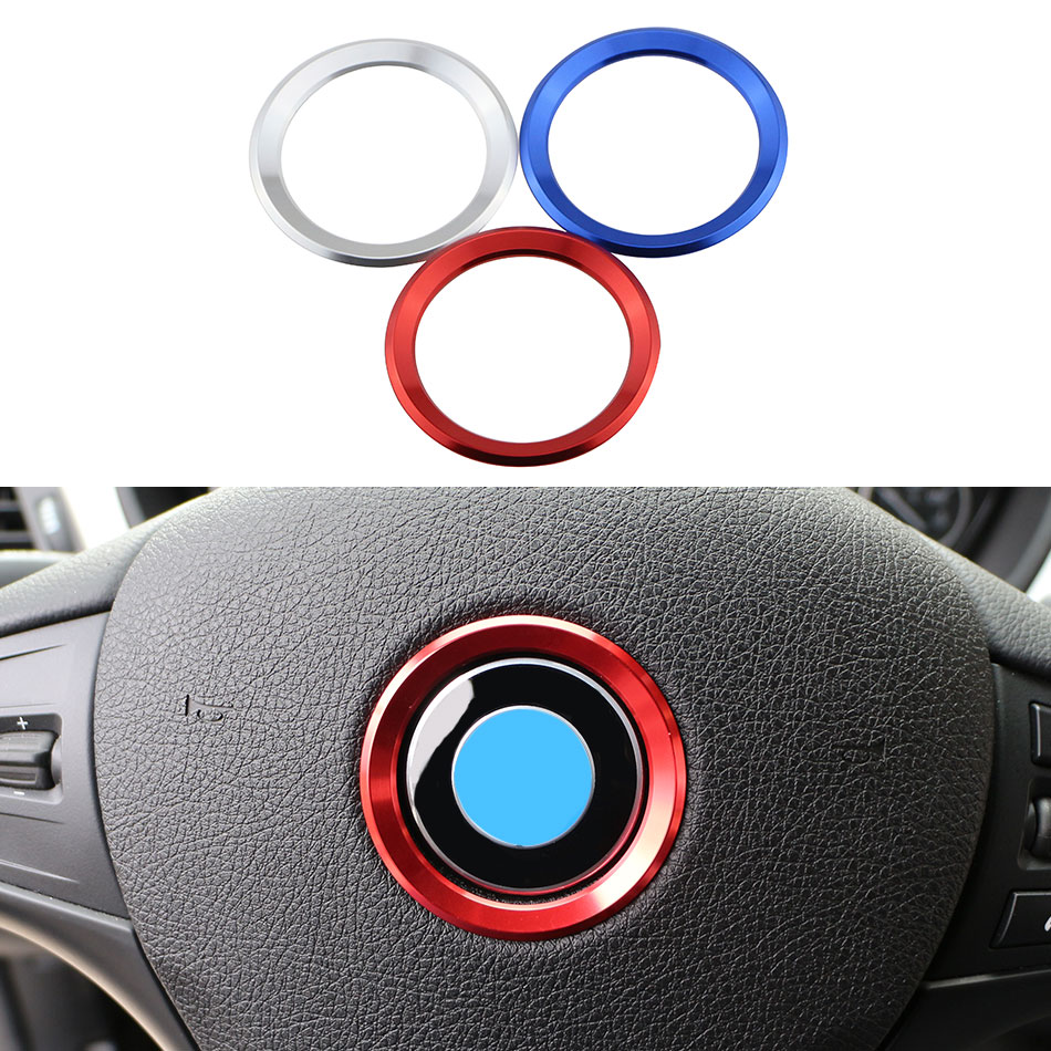 Color My Life Car <font><b>Styling</b></font> Decoration Ring Steering Wheel Circle Sticker For <font><b>BMW</b></font> M3 M5 E36 E46 <font><b>E60</b></font> E90 E92 X1 F48 X3 X5 X6 image