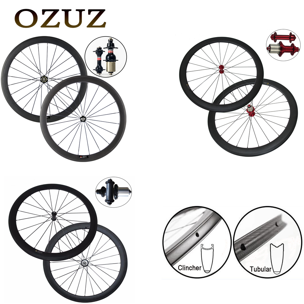 Free Customs Super light Carbon Bicycle Wheel Powerway R13 Straight Pull R36 24/38/50/60/88mm Clincher Tubular Road Bike Wheels �������� 215 45 r13