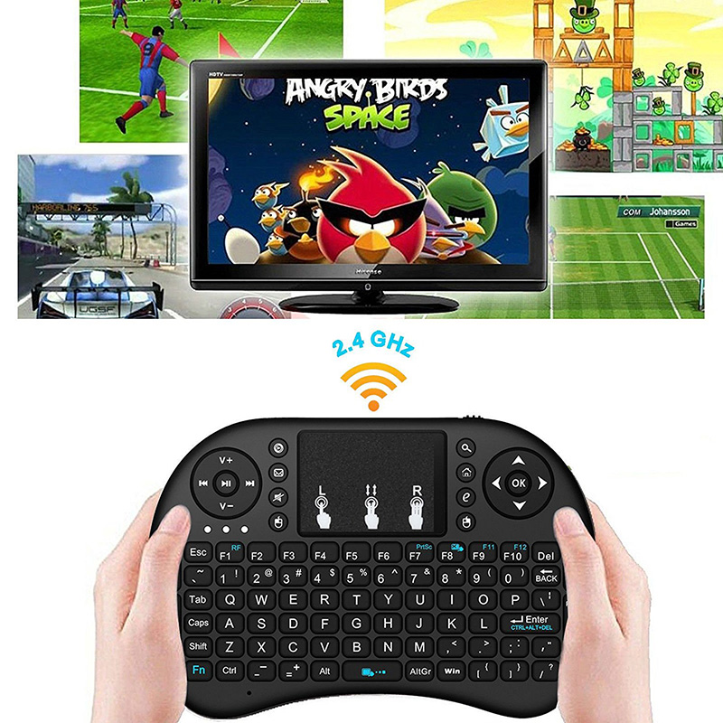 New Mini <font><b>Wireless</b></font> <font><b>Keyboard</b></font> <font><b>I8</b></font> 2.4 GHz USB Touchpad <font><b>Keyboard</b></font> Air Mouse Remote Control For HD Device Android TV Box Tablet Pc image