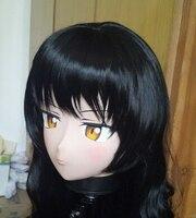 (C2 053) Female Silicone Rubber Full Head Mask Cosplay Masks Crossdresser Doll Kigurumi Japan Anime Role Play Custom Hair/Eyes
