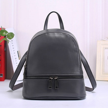 Genuine Leather Shoulder Bag 2017 Korean Fashion Leather Back All-Match Leather Female Big Backpack Wrapping Pattern
