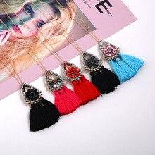 цена на Long Tassel Earrings For Women Vintage Boho Statement Fashion Necklace Earrings Ethnic Cute Drop Earrings Jewelry