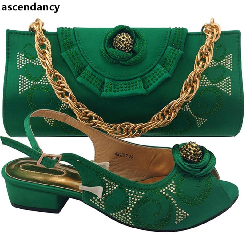 Africain En Ensemble Avec Sac Sacs Italiennes Arrivée Décoré pourpre teal Femmes Dames Vert Strass Italien Assorties Chaussures Pourpre Nouvelle Et n0wZPzPq