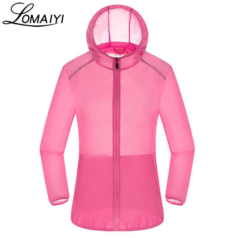LOMAIYI Ultra Light Anti-Uv   Basic     Jacket   Women Men Waterproof Coat 2017 Summer Windbreaker Girls Female   Jackets   Hooded,AM036
