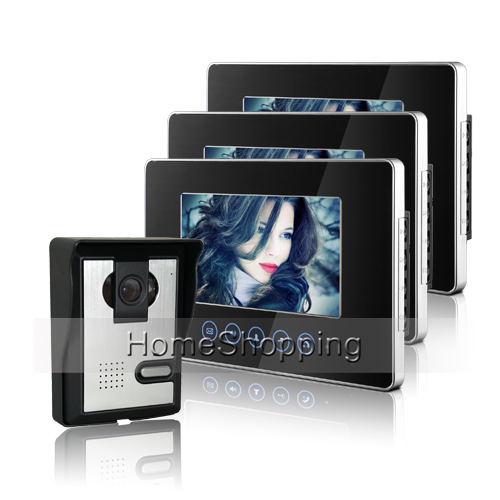 Wired 7 inch Color Touch key Screen Video intercom font b Door b font Phone System