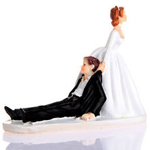 Baking Bride and Groom Couple Figurine resin fondant cake decorating tool funny wedding cake topper