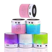 Мини светодиодный Bluetooth динамик беспроводной громкоговоритель коробка Музыка Аудио USB стерео сабвуфер с микрофоном
