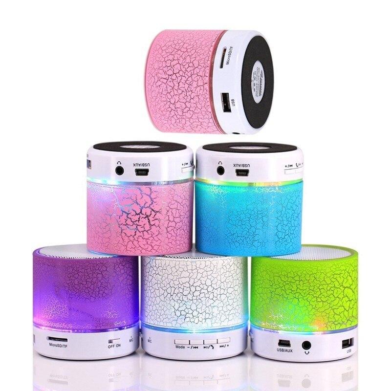 Mini LED Bluetooth Speakers Wireless Loudspeaker Box Music Audio USB Stereo Subwoofer With Mic