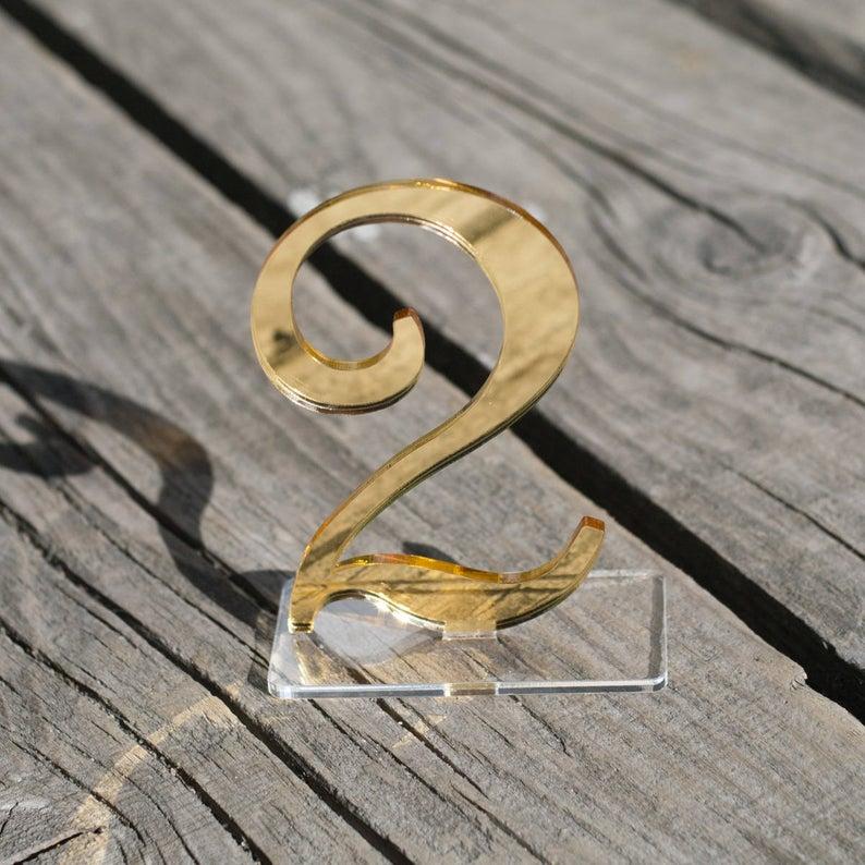 Современные акриловые зеркальные номера свадебных столов из розового золота, роскошные украшения, номера свадебных столов|Украшения своими руками для вечеринки|   | АлиЭкспресс