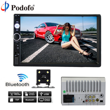 Podofo 7010B Car audio 7 Inch 2 DIN autoradio Stereo Touch Screen auto Radio Video MP5 Player, Bluetooth TF SD MMC USB FM Camera