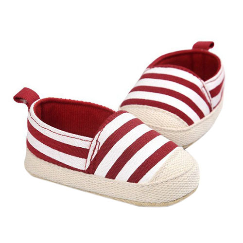 ROMIRUS Cute Baby Shoes Baby Girl Boy Striped Shoes Soft Sole First Walkers