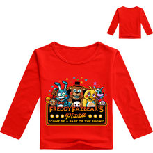 New Fashion Tee Tops FNAF T Shirts With Freddy Kids Boys Halloween Shirt Five Night At Freddy Baby Boy Tshirt Cotton(China)