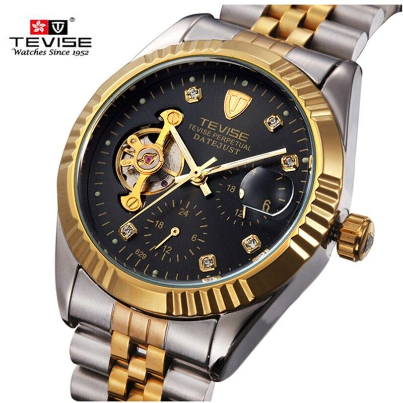 TEVISE Automatic Mechanical Men Watch Luxury Brand Luminous Watches Big Dial Clock tourbillon   Relogio Masculino