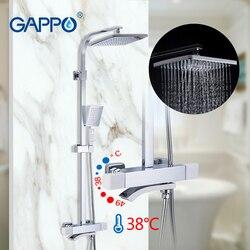 GAPPO Термостатические наборы для душа Ванная комната смеситель горячей и холодной воды латунный кран для ванны система для душа термостатич...