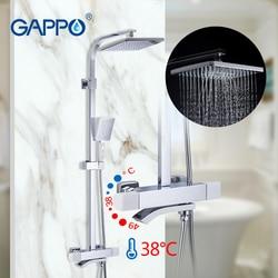 Gappo Thermostatische Douche Sets Badkamer Douche Kraan Warm En Koud Mixer Messing Kraan Bad Douche Systeem Thermostatische Mengkraan
