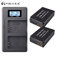 2 個 1800 mAh LP E12 LP E12 LPE12 リチウムイオン電池 + 液晶 USB デュアル充電 Canon EOS M50 EOS m100 100D キス X7 反乱 SL1 カメラ