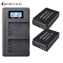 2 Pcs 1800 mAh LP E12 LP E12 LPE12 แบตเตอรี่ Li   Ion + LCD USB Dual Charger สำหรับ Canon EOS M50 EOS m100 100D Kiss X7 Rebel SL1 กล้อง