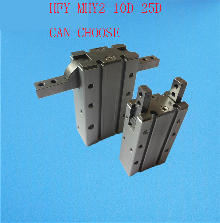 FREE HFY MHY2 10D 16D 20D 25D Double Acting Pneumatic Gripper SMC Y Type 180 Degree Angular Style Aluminium Clamps Bore 10-25mm mhc2 10d angular style double acting air gripper standard type smc type pneumatic finger cylinder