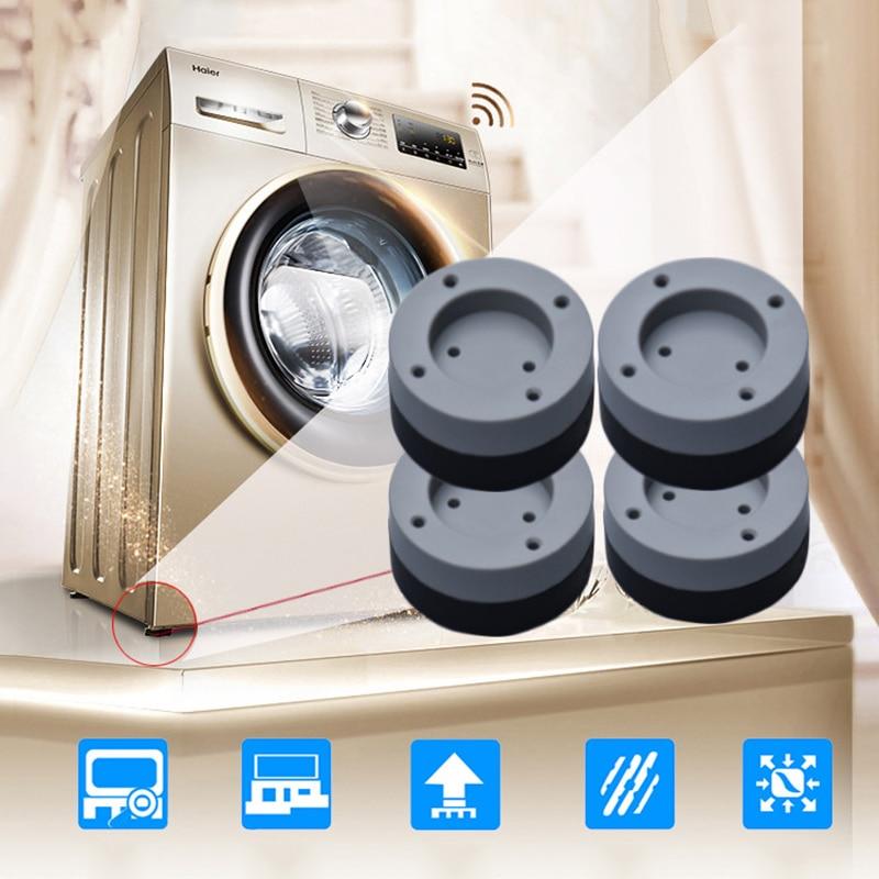 4 Pcs Washing Machine Refrigerator Mute Rubber Mat Anti Vibration Anti Shock Pad TB Sale