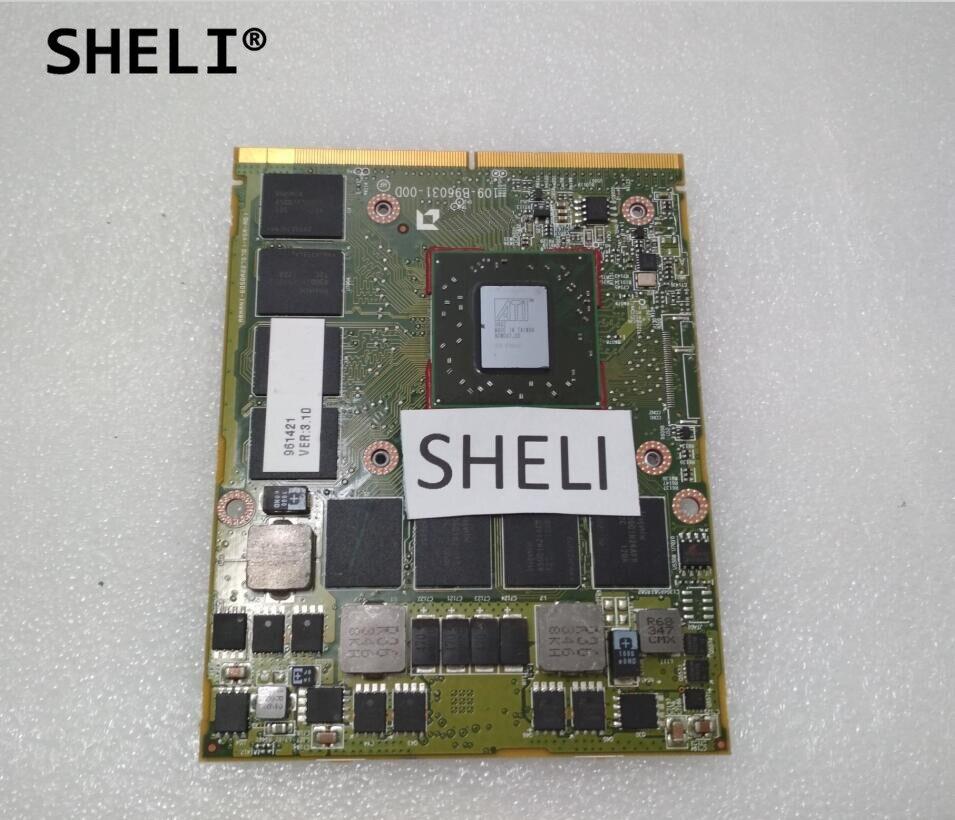 SHELI HD5870 HD 5870M 1GB DDR5 109-B96031-00D VGA Video Graphics card for HP 8740W 8760W 8540w 8560w vg 86m06 006 gpu for acer aspire 6530g notebook pc graphics card ati hd3650 video card