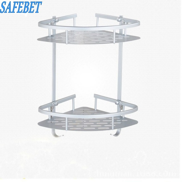 Beau SAFEBET Brand Two Layer Bathroom Toiletries Metal Storage Rack Wall Mounted  Suction Cup Towel Rail