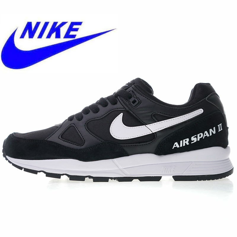 brand new 05302 f8043 Nike Air Span II Men's Running Shoes ,Outdoor Sports Shock Absorption  Breathable Lightweight, Black / Blue AH8047 002 AH8047 400