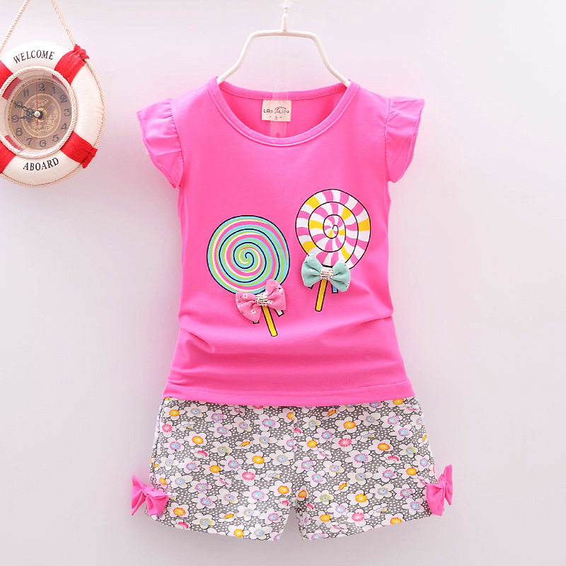 2018 Fashion Summer Infant Baby Newborn Girls Clothes Beautiful Outfits Sets Sports Printed Tracksuits Girl Clothing Casual summer baby girl clothes newborn 3 piece clothing sets kids infant outfits suit girls bodysuit romper skirt headband