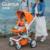 Design alemão quintus luxo euro padrão aranha frame da liga de alumínio carrinho de bebê carrinho de bebê de alta-paisagem sentado deitado