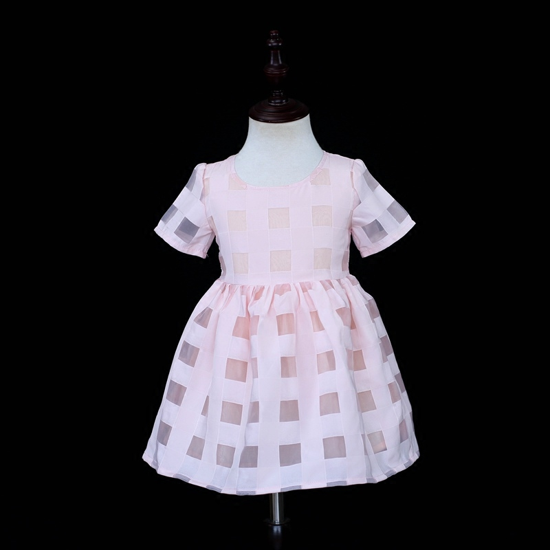 Brand mother and baby girl matching clothing set family look clothes children plaid organza pink dress mom daughter summer dress brand summer mom princess girl kids dress infantile children baby girls lady woman women mother and daughter matching dress 819