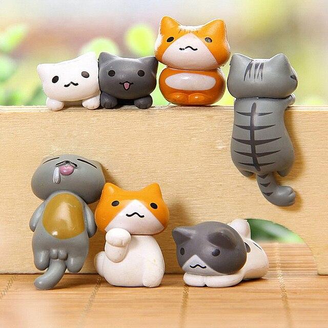 6 Stücke Heiße Neue Lustige Klettern Katzen Mini Nette Figuren
