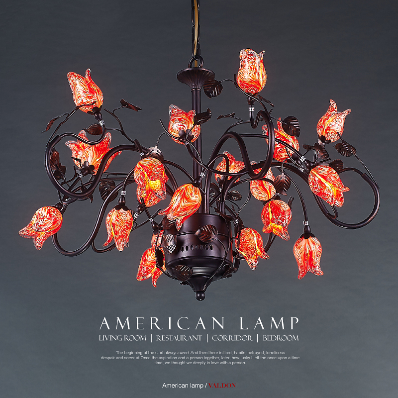 American creative personality features simple and warm bedroom dining room chandelier retro country Iron Chandelier american creative personality features simple and warm bedroom dining room chandelier retro country iron chandelier