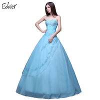 Light Blue Quinceanera Dresses Ball Gown Long Puffy Crystal Sweetheart Organza Vestidos De 15 Prom Dress For Girls