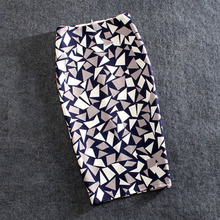 Women Skirts Print Flowers Fashion Pencil Skirt Casual Skirts Plus Size Faldas Mujer Jupe Femme