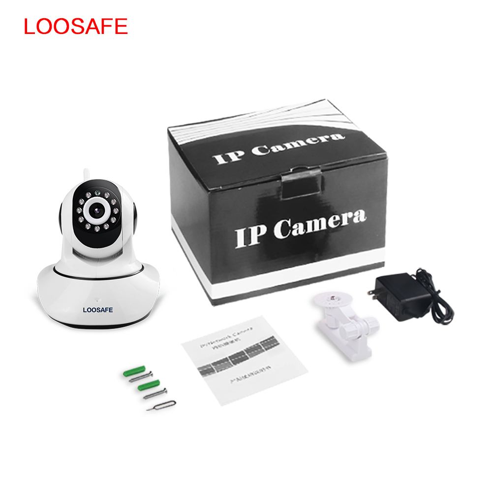 loosafe hd 720p wireless ip camera wifi onvif video surveillance alarm systems security network. Black Bedroom Furniture Sets. Home Design Ideas