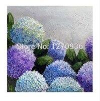 رسمت باليد جدار الفن جميلة الأرجواني الضوء الأزرق السماء مليئة نجمة شغل في حديقة دائرة الزهور اليدوية النفط الطلاء على قماش