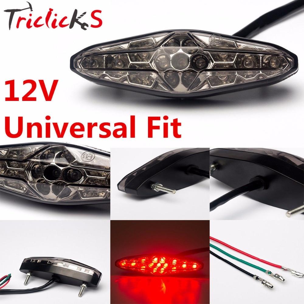 Triclicks 45W 11.5x3.5 CM Epistar SMD 3178 LED Motorcycle ATV Dirt Bike Brake Stop Running Tail Light Universal Smoke Car Lights