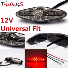 Triclicks 45W 11.5x3.5 CM Epistar SMD 3178 LED Motorcycle ATV Dirt Bike Brake Stop Running Tail Light Universal Smoke Car Lights