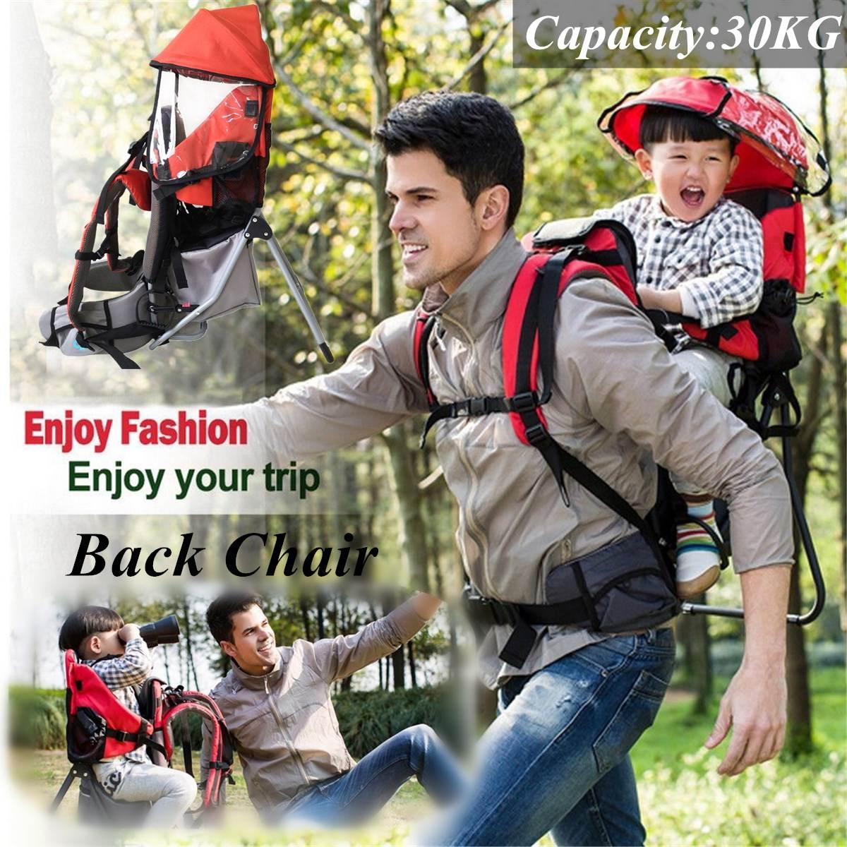 Porte-bébé pliable sac à dos imperméable bébé bambin randonnée sac à dos extérieur voyage bébé cadre arrière chaise portant poids 30Kg