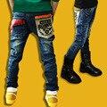 Розничная высокое качество весенние детские брюки мальчики девочки детские джинсы детские джинсы для мальчиков свободного покроя джинсовые брюки 5-14Y малышей одежда
