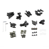Complete Motorcycle Windshield Fairing Bolts Nuts Screws Washer Kit Fastener Clips Screws Aluminum Drop Shipping