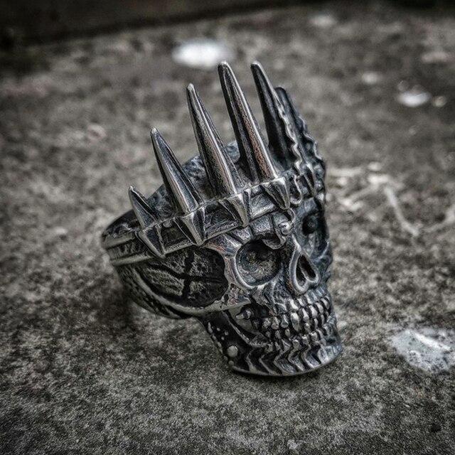 Bague tête de mort Roi
