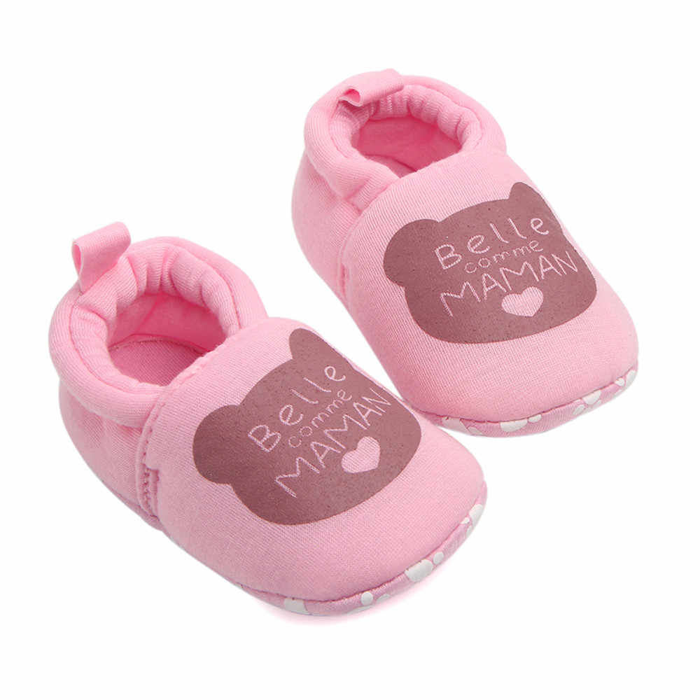 Lovely Fashion Baby Shoes Lovely Toddler First Walkers Baby Shoes Round Toe Flats Soft Slippers Shoes 2019 New #K3