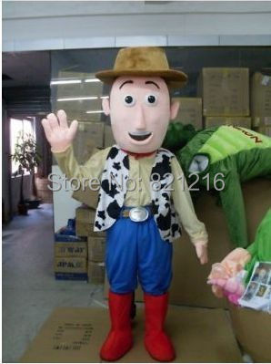 Adult  Woody Mascot Costume The Cowboy Fancy Costume Halloween The Cowboy Cosplay Carnival Costume