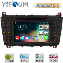 Android 6 Octa Core 2GB RAM 32GB ROM Car DVD Player Radio Stereo GPS For Benz C class W203 C230 C320 C350 C32 C55 C63 AMG W203